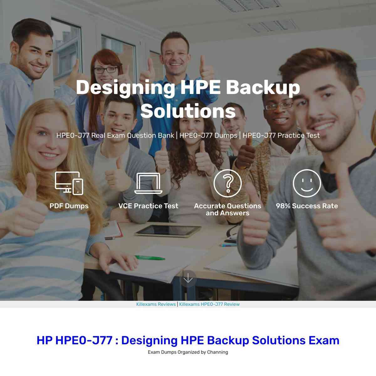 Pass4sure HPE0-J77 Exam Questions that are updated today