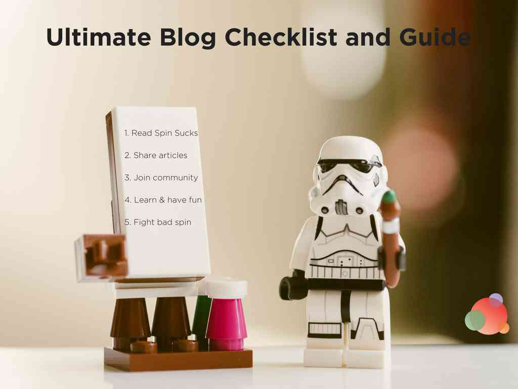 The Ultimate Blog Checklist and Guide for Bloggers and Authors Spin Sucks