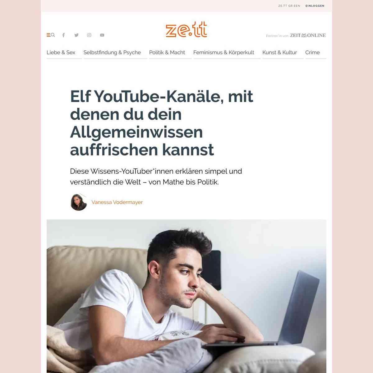 11 YouTube-Kanäle, mit denen du dein Allgemeinwissen auffrischen kannst › ze.tt