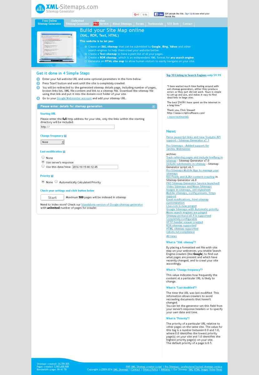 create your google sitemap online xml sitemaps generator dpa
