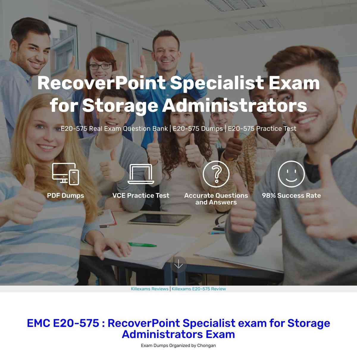 Go through EMC E20-575 Question Bank and Practice Questions with Study Guide