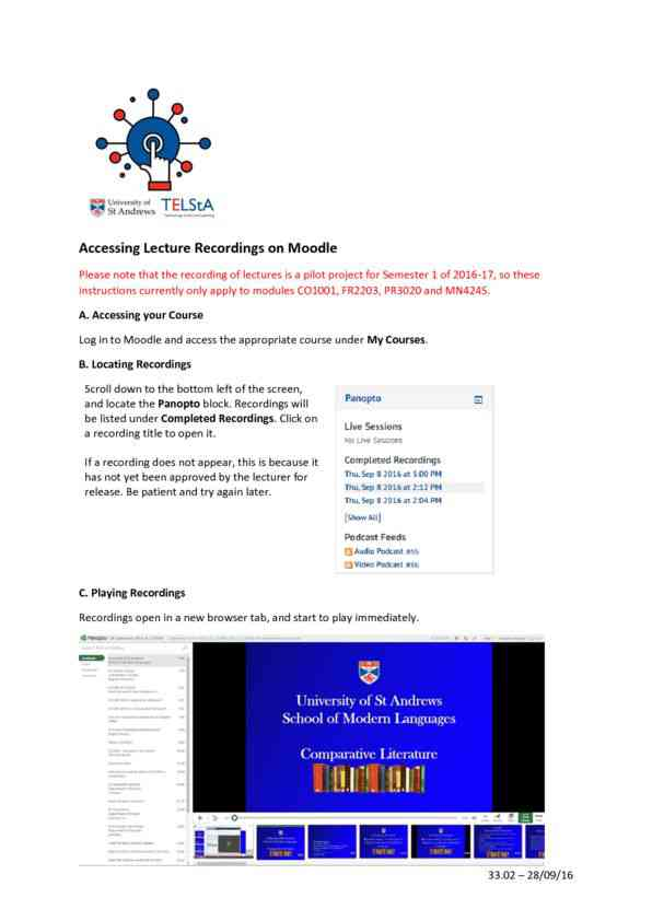 Student Guide - Moodle