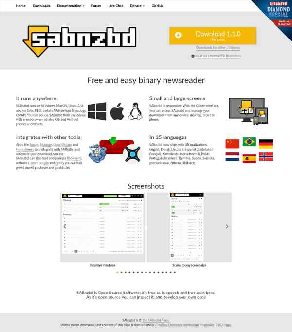 SABnzbd.org - Home of SABnzbd+, the Full-Auto Newsreader
