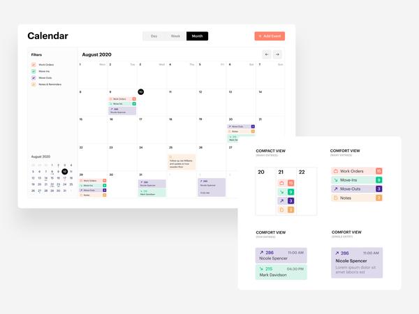 Responsive calendar UI