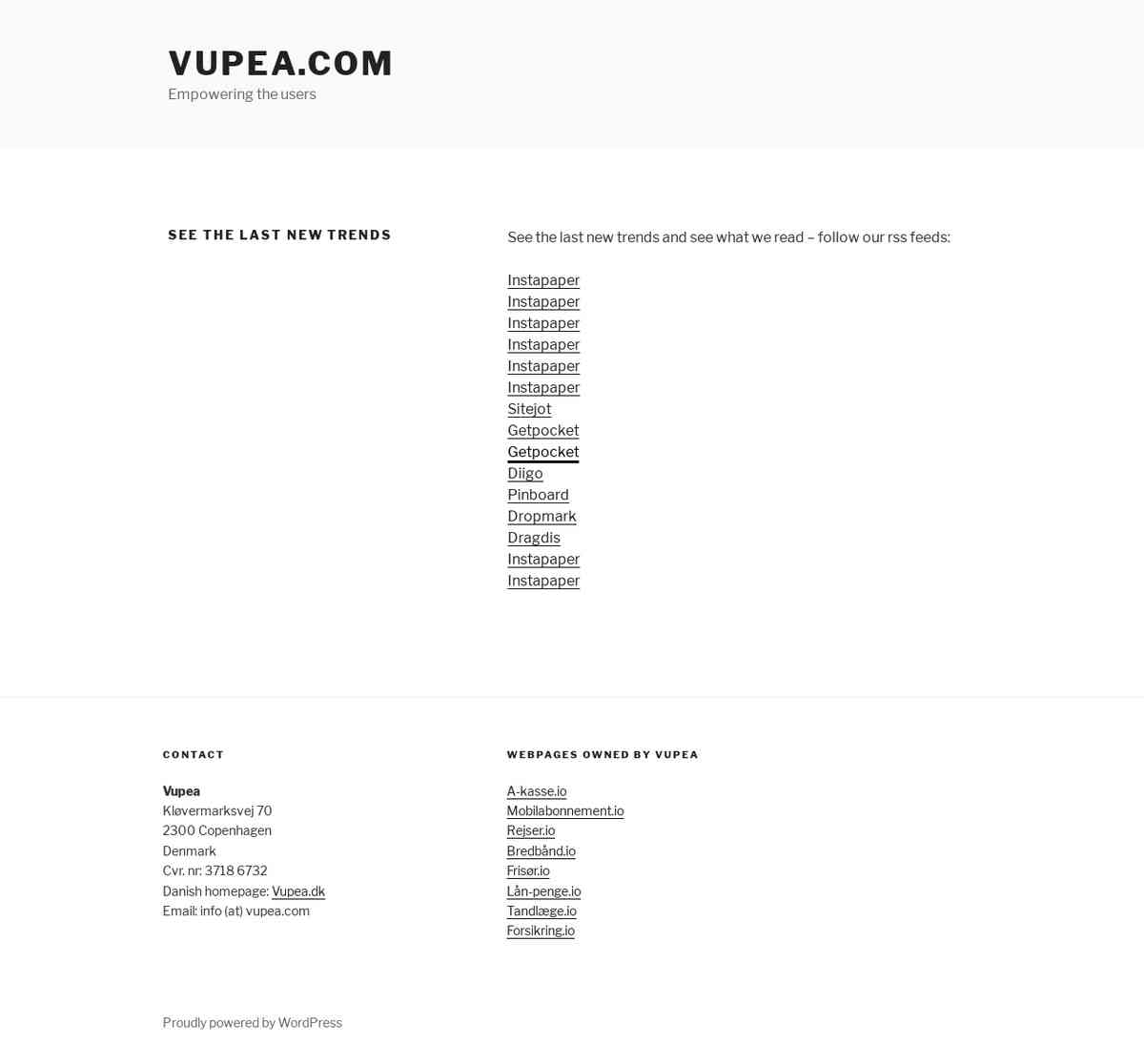 See the last new trends - Vupea.com