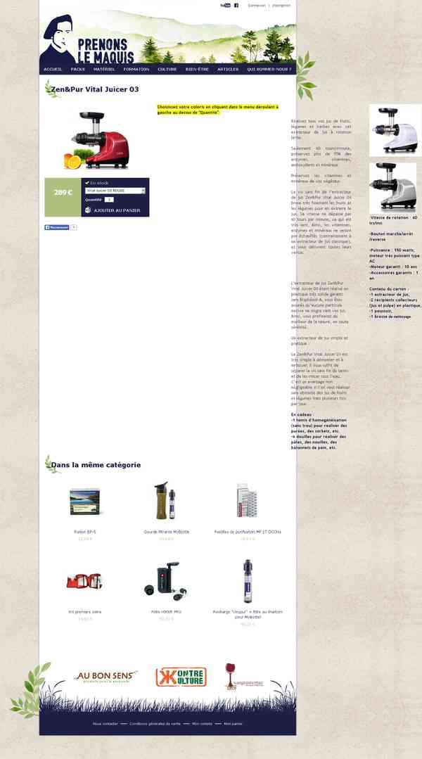 Zen&Pur Vital Juicer 03 | Prenons le maquis