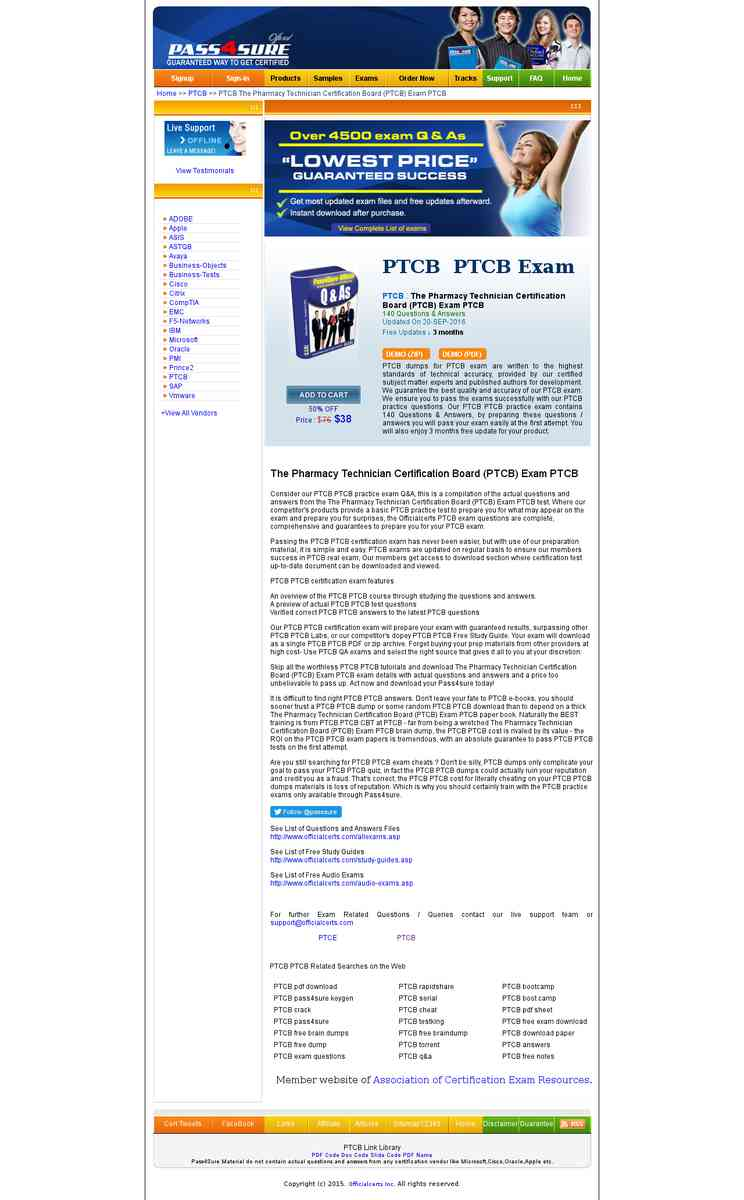 Ptcb The Pharmacy Technician Certification Board Ptcb Exam Free