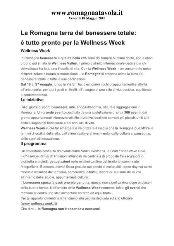 2019-05-18 Romagnatavola_ La Romagna terra del benessere totale