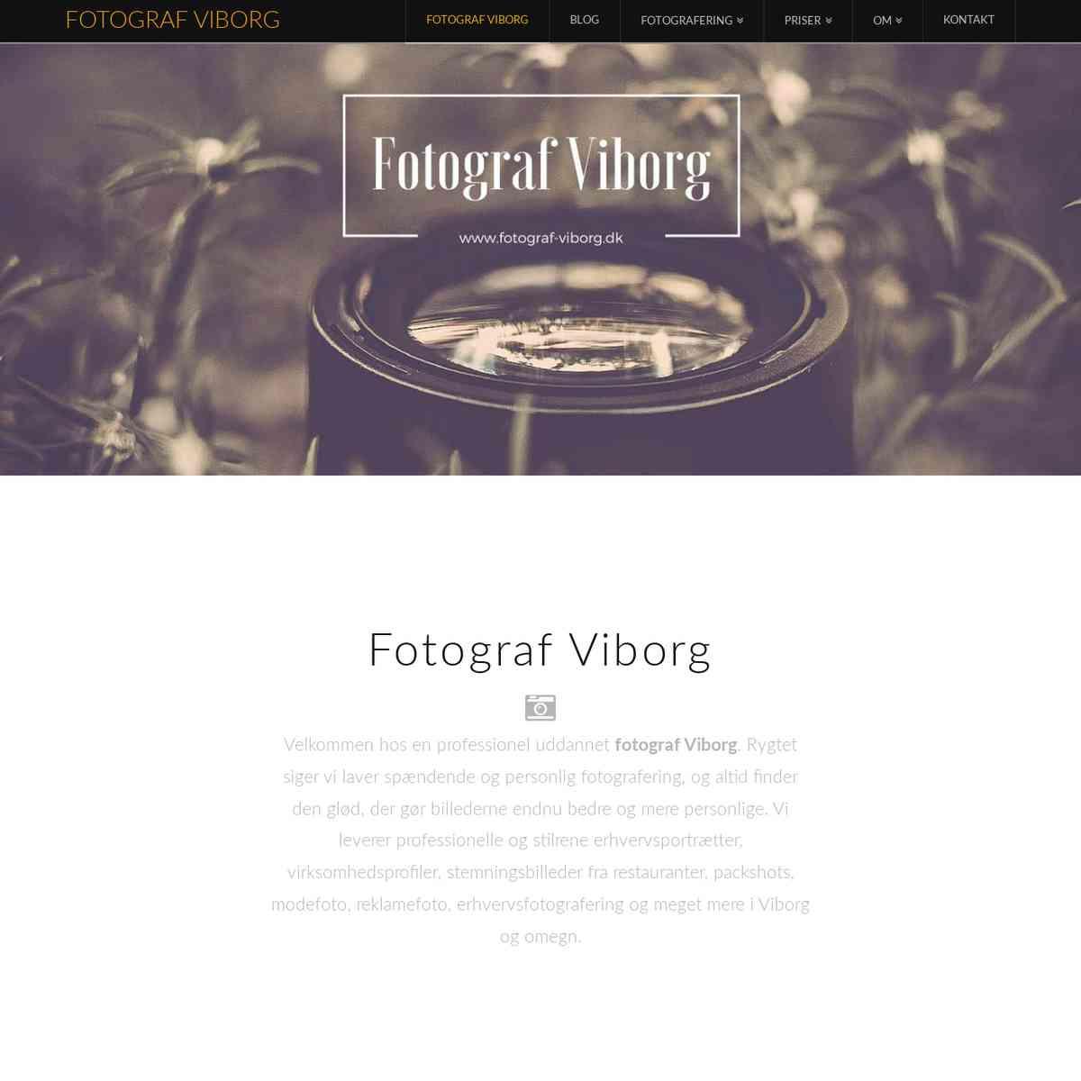 Fotograf Viborg