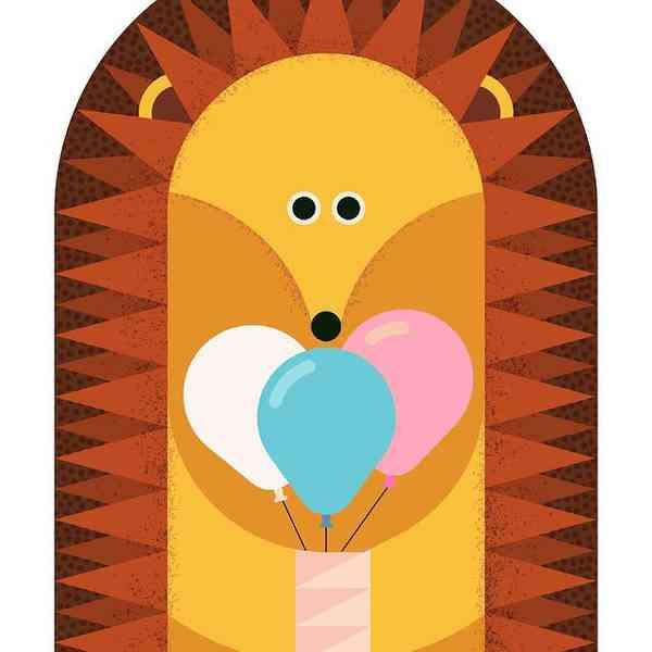 Birthday hedgehog card