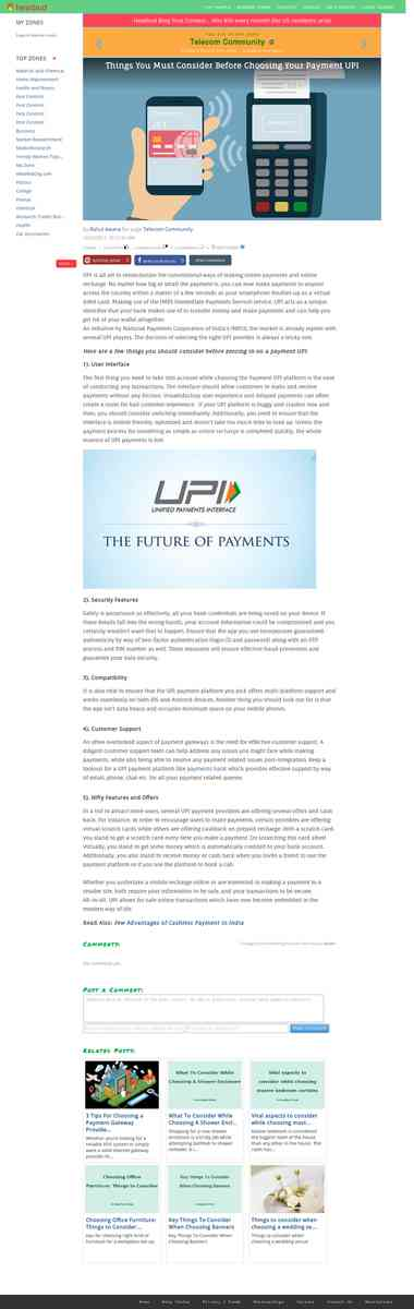 Things You Must Consider Before Choosing Your Payment UPI