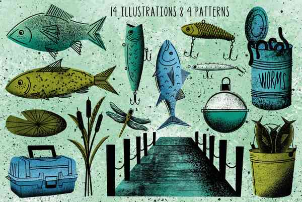 $ Reel Fishy Illustrations Collection