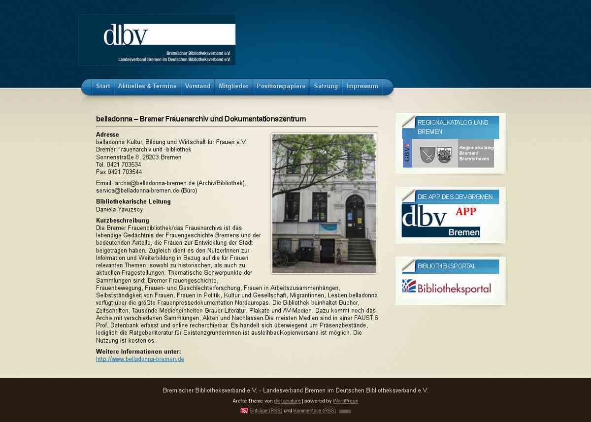 belladonna – Bremer Frauenarchiv und Dokumentationszentrum « DBV Bremen