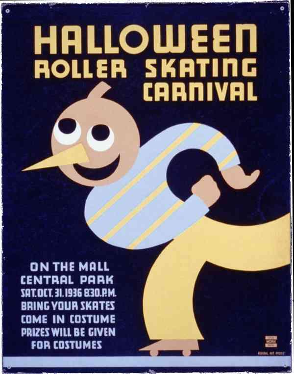 Halloween roller skating carnival