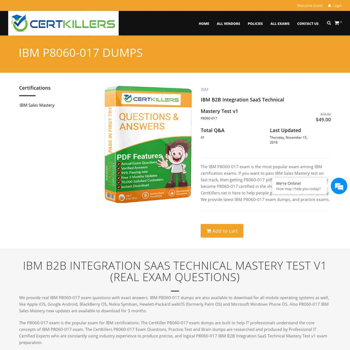 CertKillers.net P8060-017 Free VCE is accommodated survey | Practice Test | test prep