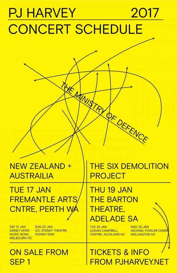 PJ HARVEY tour poster