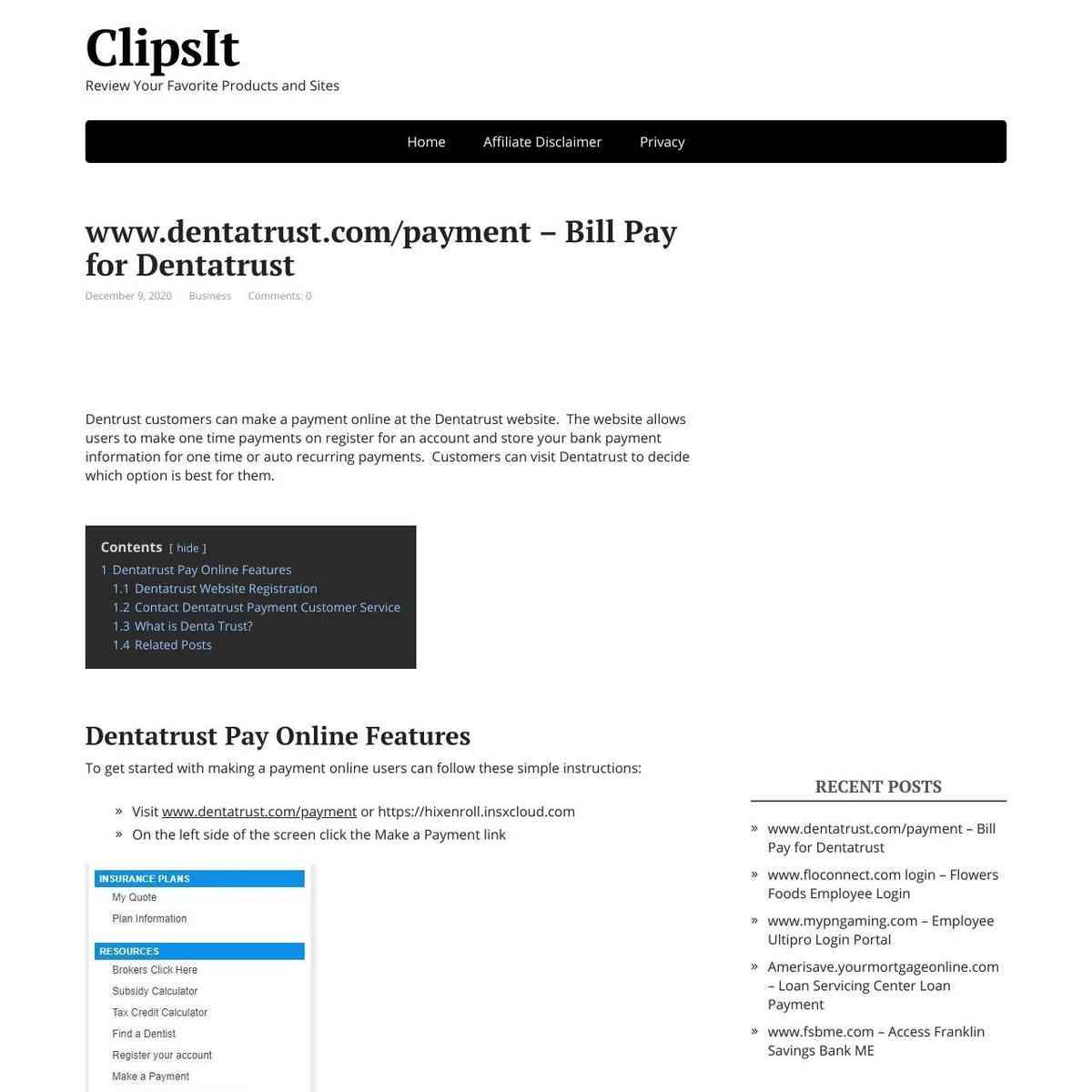 Dentratrust Payment Bill Pay