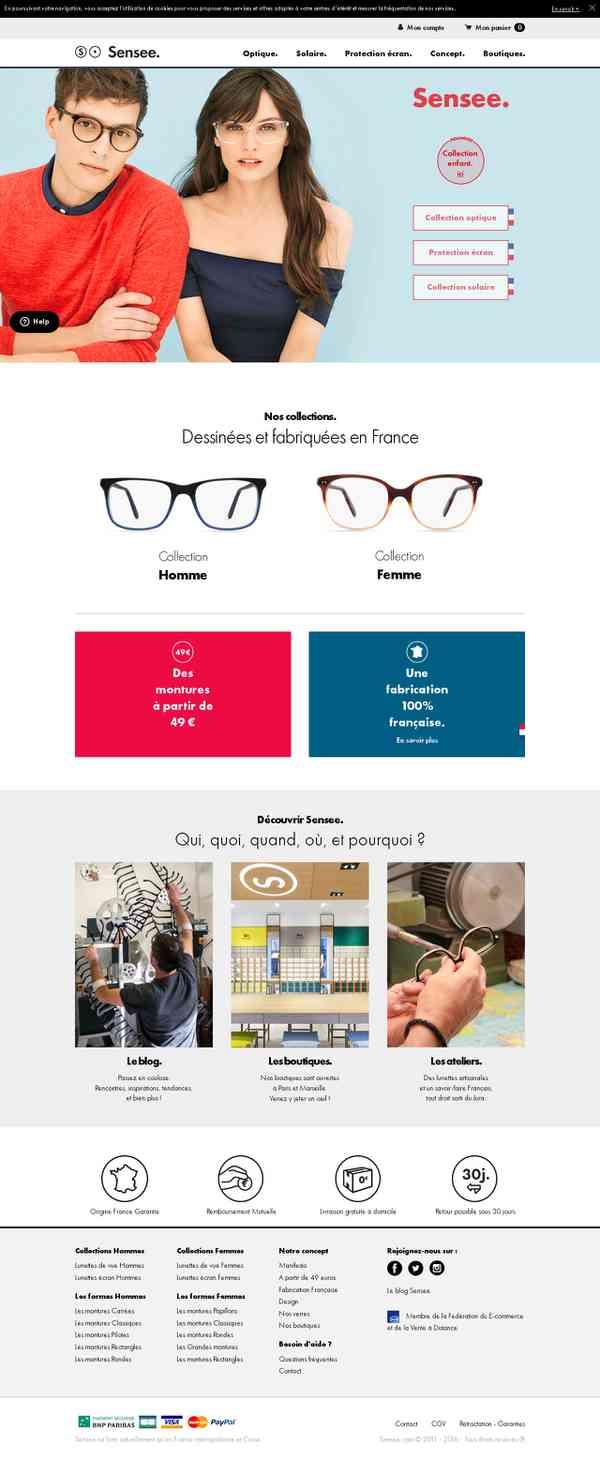 Sensee. Les lunettes.