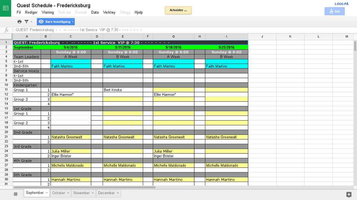 Quest Schedule