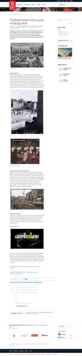 Oneindig Noord Holland / Amsterdam gaat ondergronds