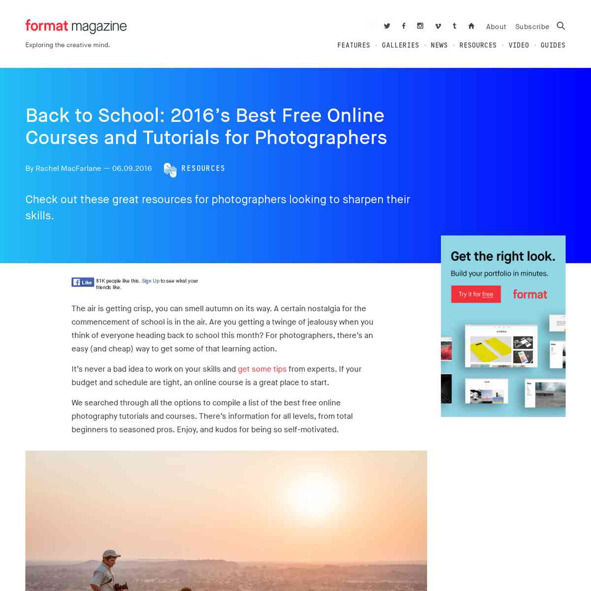 Back to School: 2016's Best Free Online Courses and Tutorials for Photographers