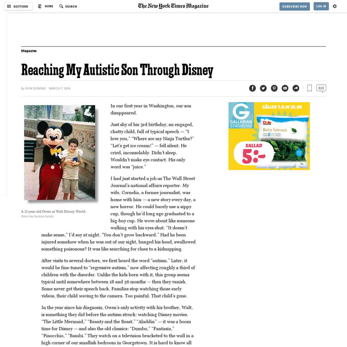 Reaching My Autistic Son Through Disney - NYTimes.com