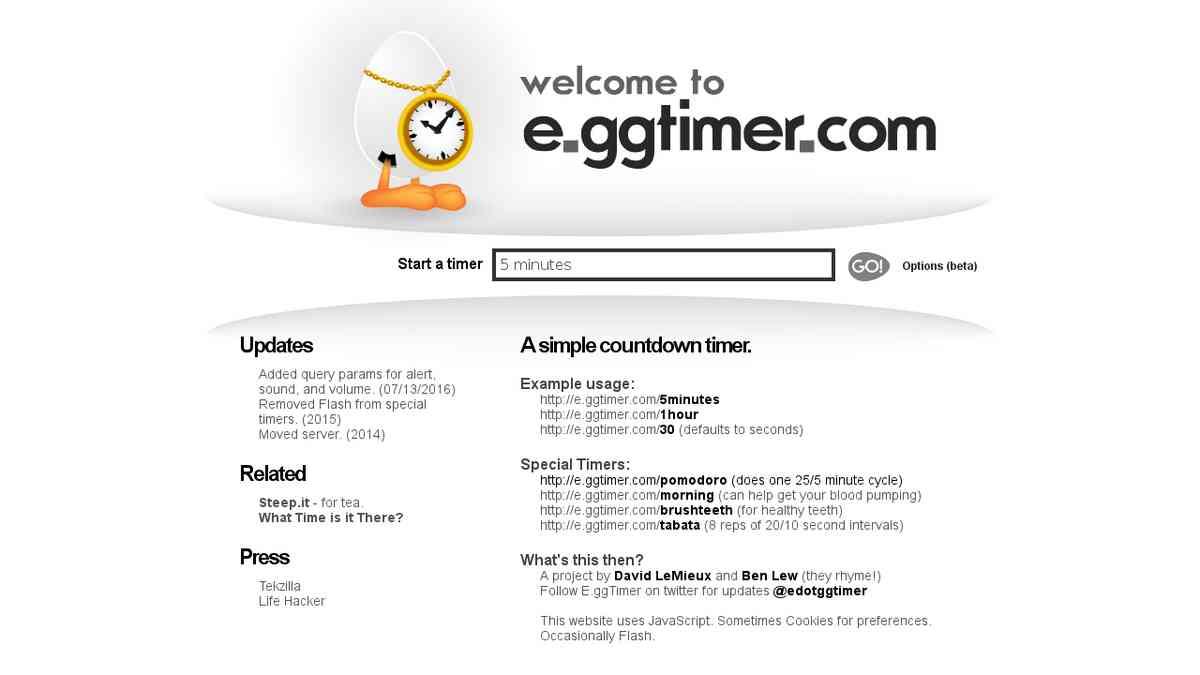 E.gg Timer - a simple countdown timer