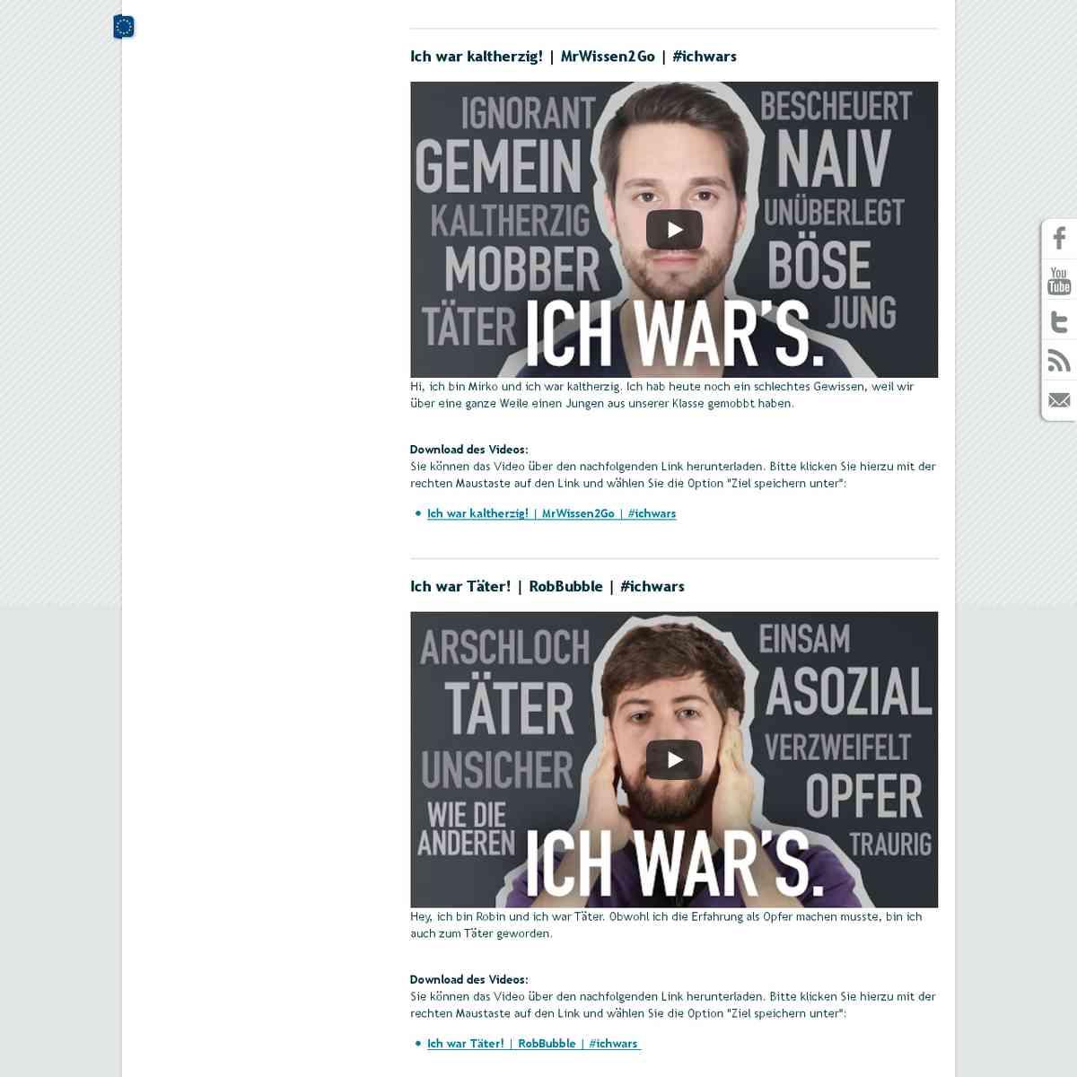Videoreihe: Ich war's - klicksafe.de