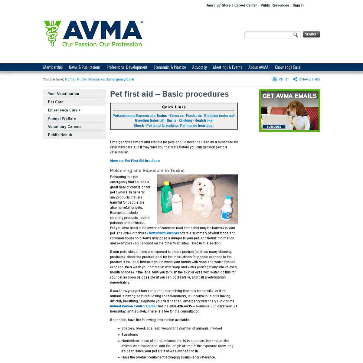 AVMA: Basic Pet First Aid Procedures