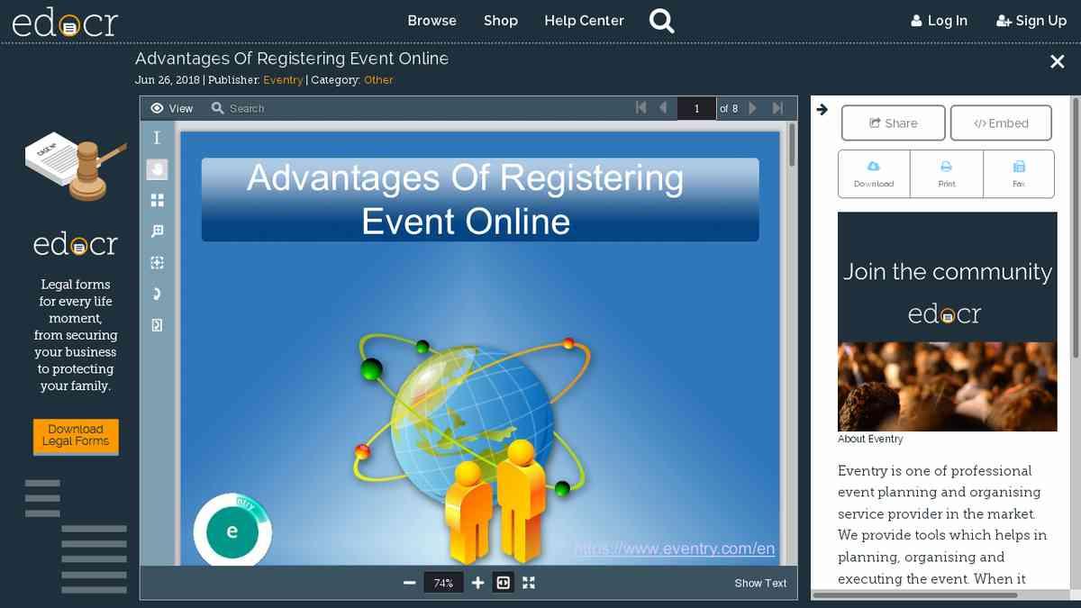 Advantages Of Registering Event Online