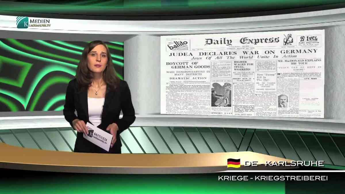 58 déclarations de guerre contre l'Allemagne seule responsable