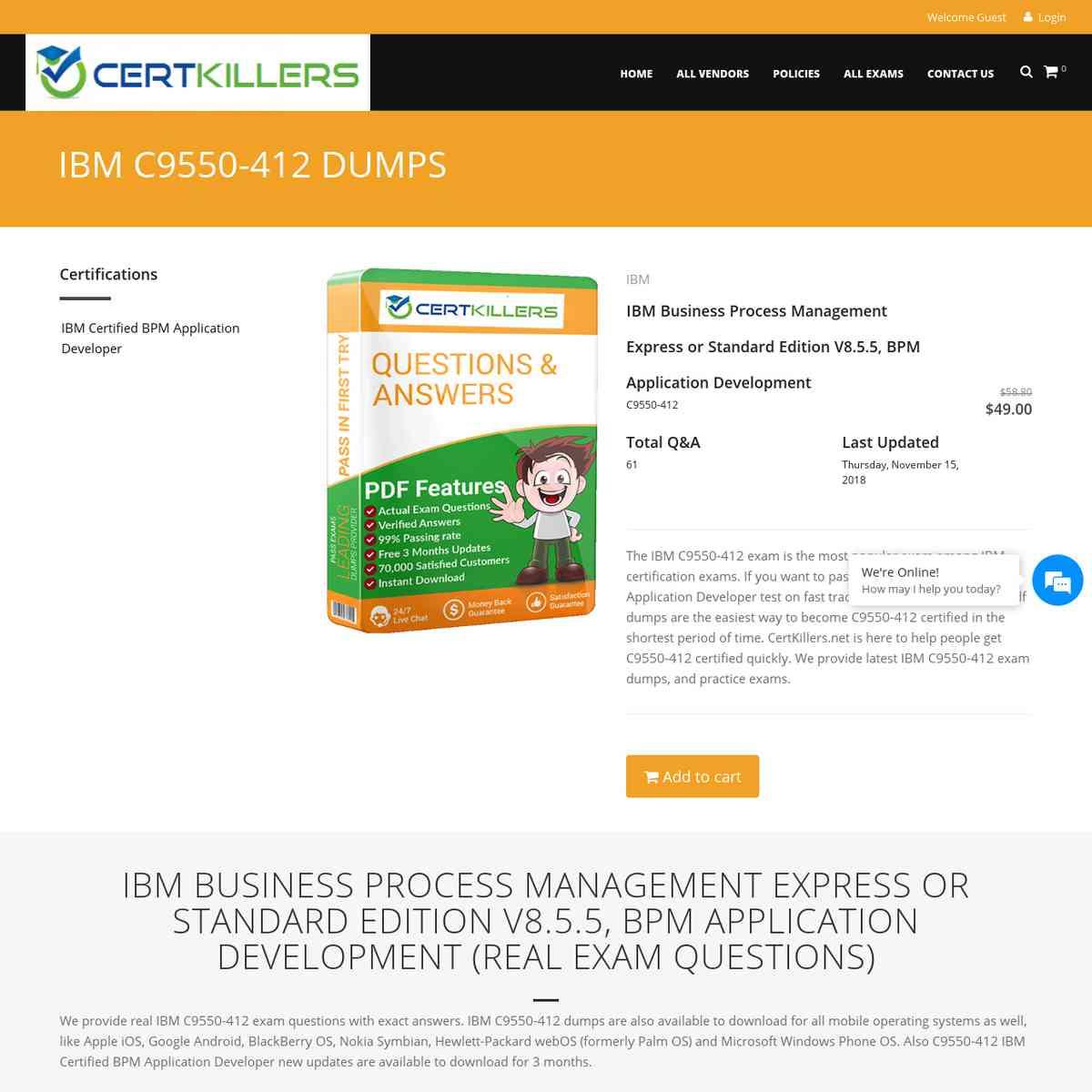 Direct Download C9550-412 Brain dumps PDF | free test | practice exam