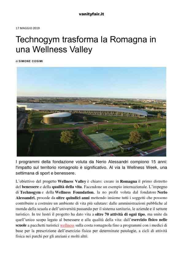 2019-05-17 Vanity Fair_ Technogym trasforma la Romagna in una Wellness Valley