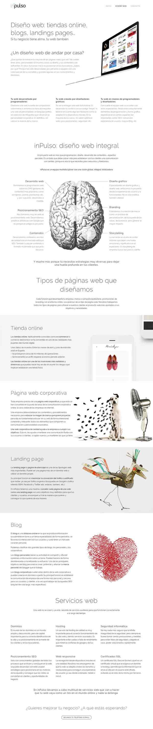 Diseño web: tiendas online, blogs, landings pages... | Toledo | Inpulso.es