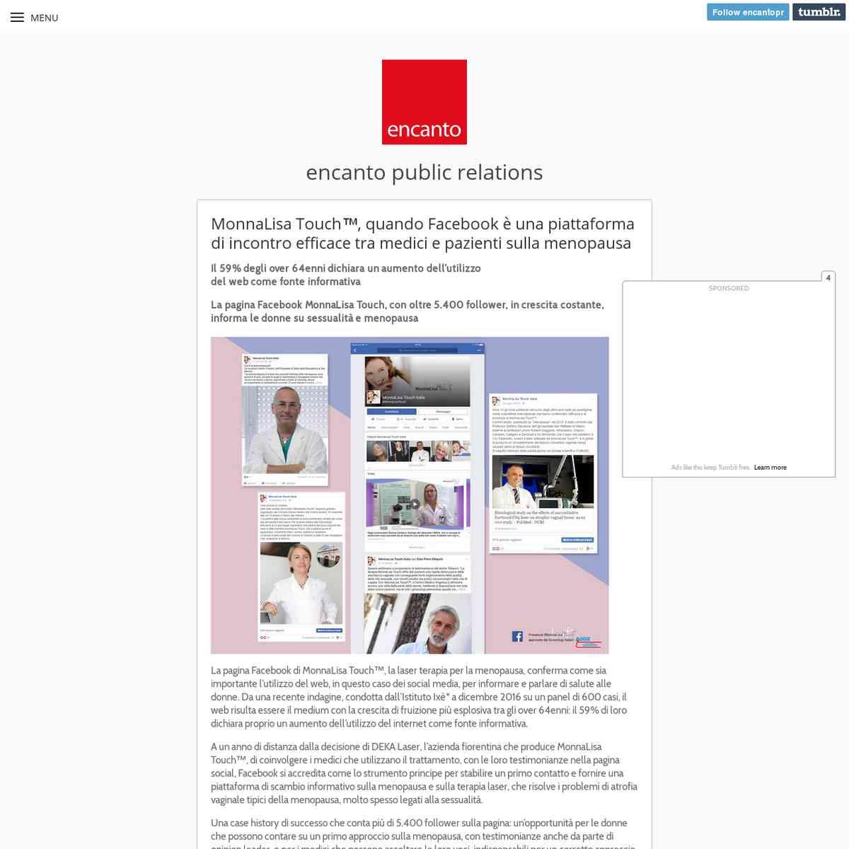 MonnaLisa Touch™, quando Facebook è una... - encanto public relations
