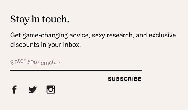 Dame Subscription Form