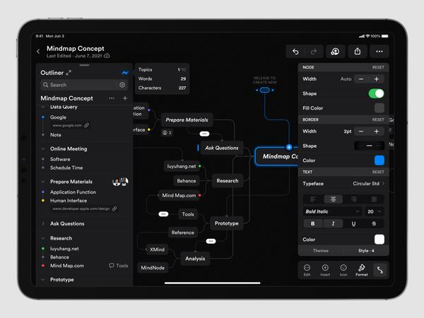 Mindmap Concept Application (Dark)