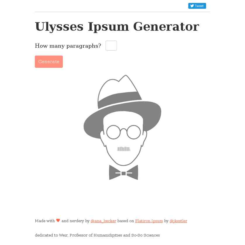 James Joyce's Ulysses Ipsum