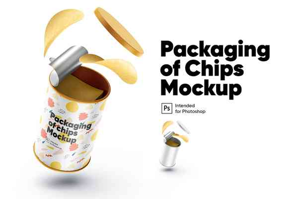 $ Packaging of Chips Mockup