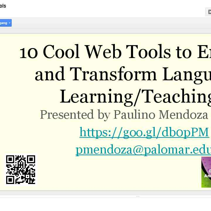 !0 Cool Web Tools Presentation