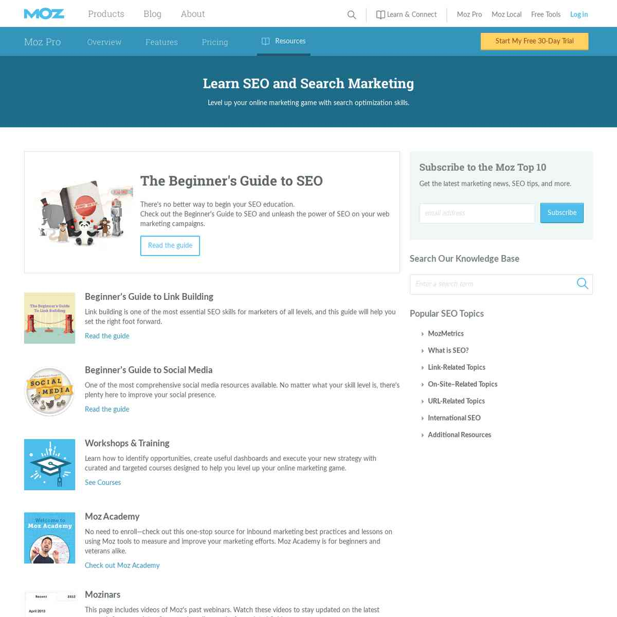 Learn SEO and Social Media - Moz