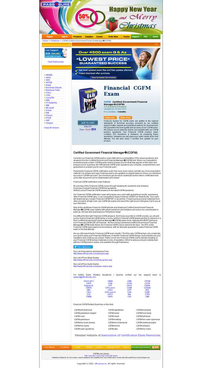 Cgfm Certified Government Financial Manager Cgfm Free Pass4sure