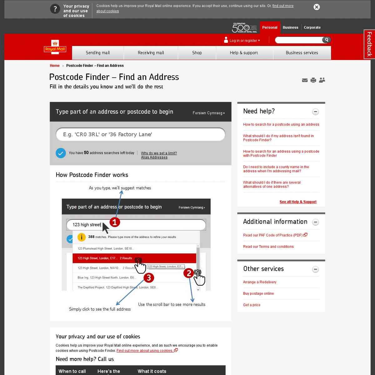 Postcode Finder – Find an Address | Royal Mail Group Ltd