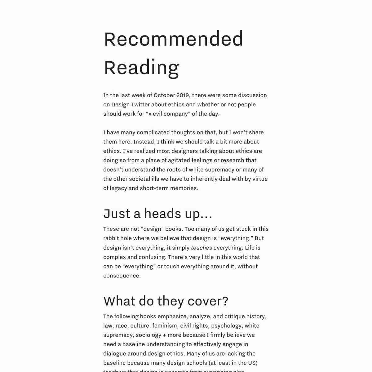 amélie's ethics/race reading list