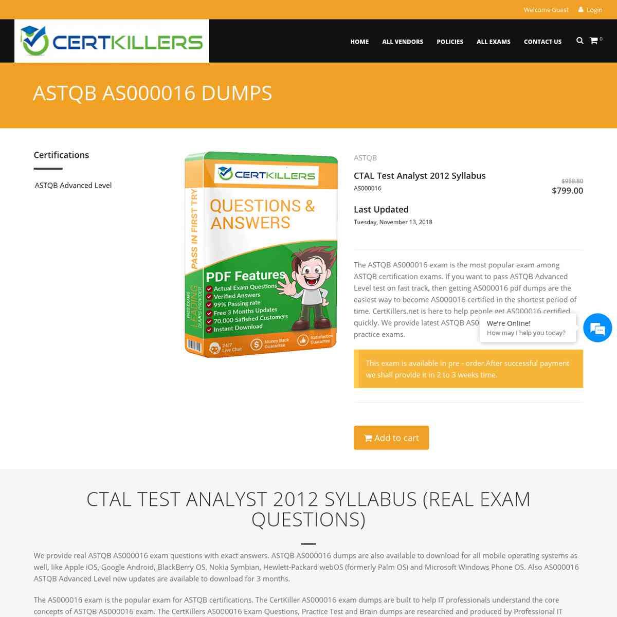 CertKillers.net AS000016 questions for high stamps | free test | braindumps
