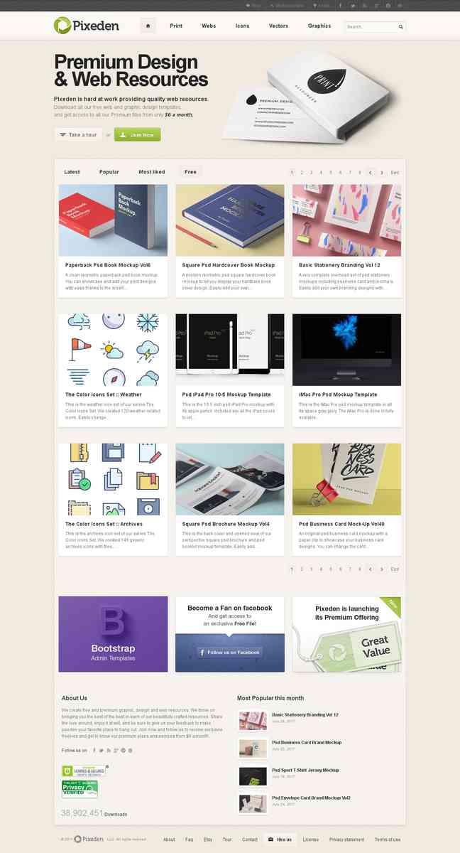 Free Design Resources | Pixeden