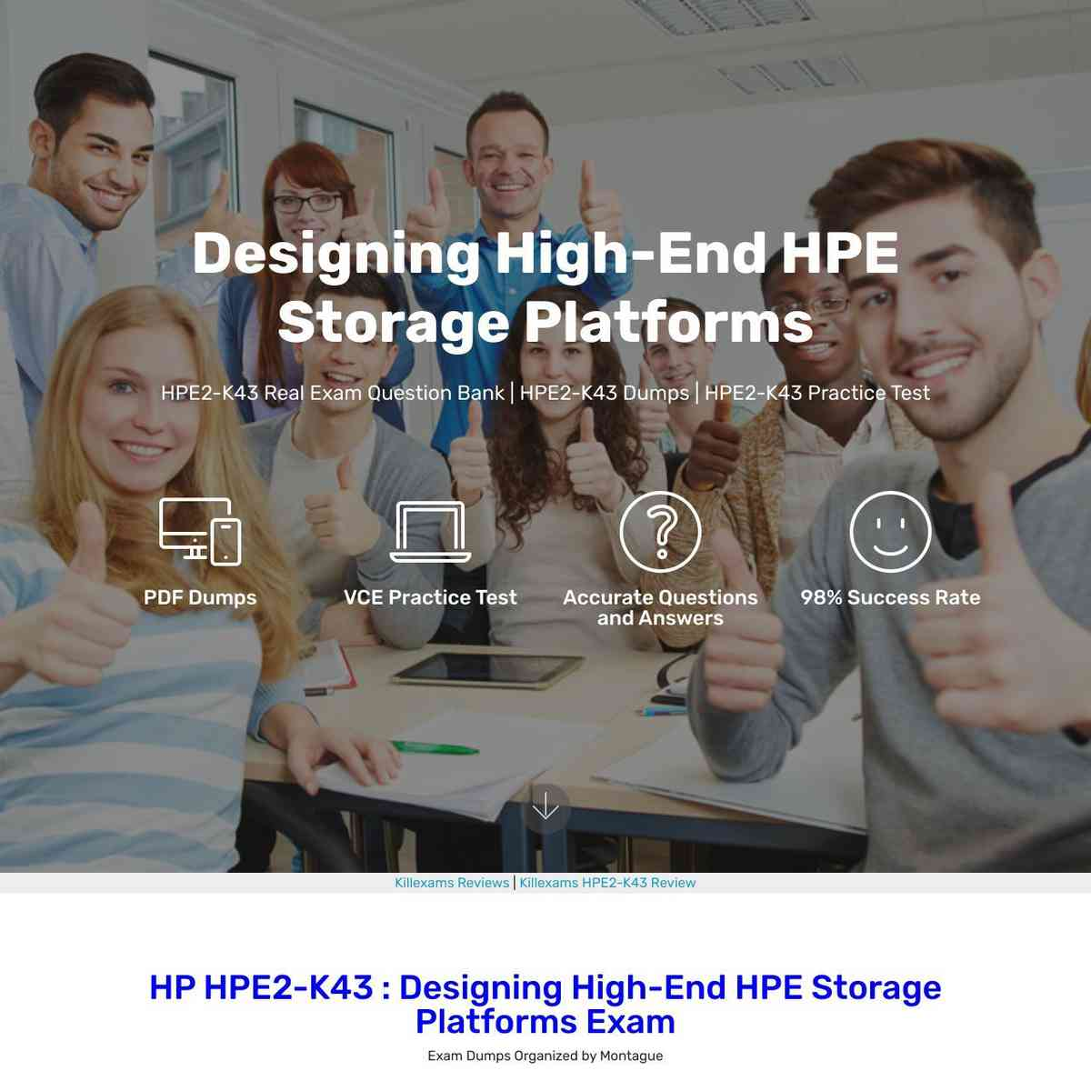 Exactly same HPE2-K43 Test Prep that I saw in real test!