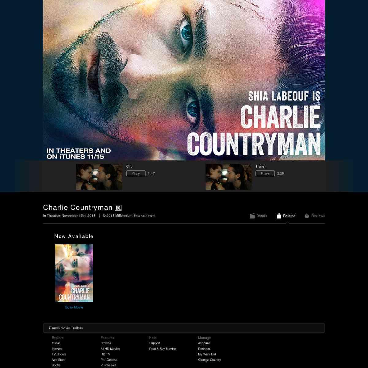 Charlie Countryman (Trailer)
