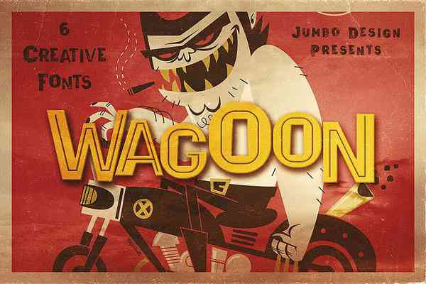$ Wagoon. Funny Style Font