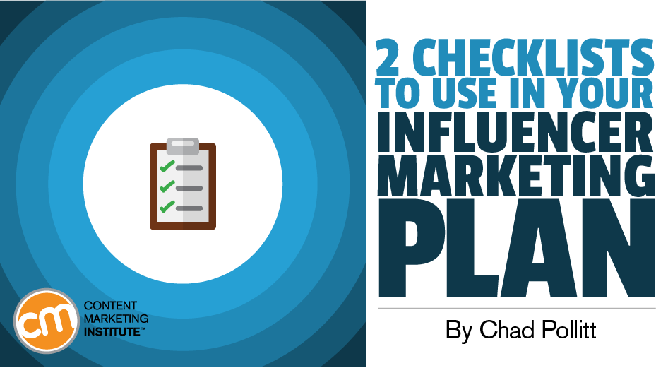2 Simple-to-Implement Checklists to Use in Your Influencer Marketing Planning